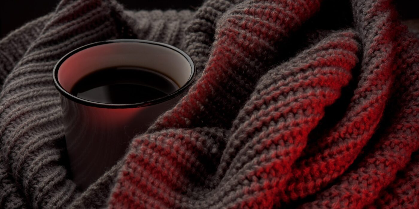 blanket and coffee mug